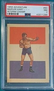 1956 Adventure Boxing #80 Marvin Hart Champ PSA 7 Nicely Centered