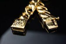 100 Gram Heavy Gold Rolo Bling Bracelet for 1% ER Harley Davidson Biker TB209