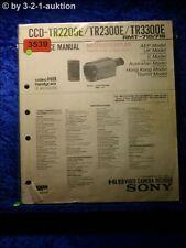 Sony Service Manual Ccd TR2200E/TR2300E/TR3300 (#3539)