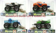 """NEW RAY TOYS 5"""" BATTERY OPERATED EXTREM MONSTER TRUCKS SET OF 4 00827"""
