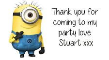 Despicable Me MINIONS  Party Bag Stickers Labels Favours Sweet on Avery Template
