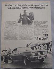 1970 Opel Rekord Original advert No.1