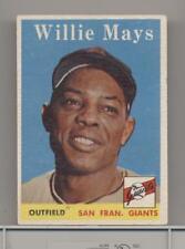 WILLIE MAYS VINTAGE 1958 TOPPS BASEBALL CARD