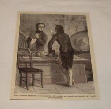 1876 magazine engraving ~ Inventor & Charles Chavalier