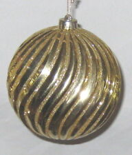 "Big Goldtone 18 1/2"" Circumference Ball Sphere Ornament"
