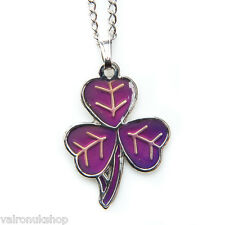 Celtic Irish Shamrock Mood Colour Changing Necklace