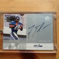 Fred Taylor Sp Authentic Silver Autograph 44/100 Upper Deck
