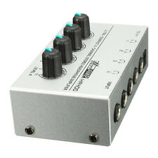 HA400 4 Channel Ultra-compact Headphone Audio Stereo Amp Microamp Amplifier O9I6