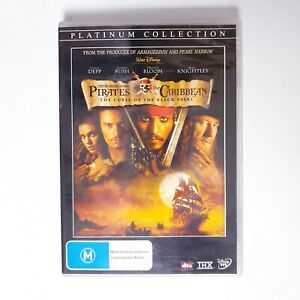 Pirates of the Caribbean Curse of the Black Pearl Movie DVD R4 AUS Free Postage