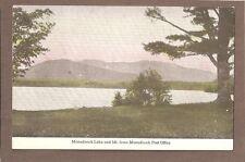 VINTAGE POSTCARD UNUSED MONADNOCK LAKE & MOUNTAIN NEW YORK