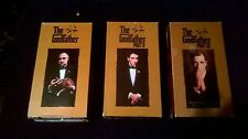VHS Movies The Godfather Parts I, II, III Final Director's Cut - FREE Shipping
