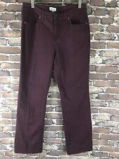 D&CO Womans Purple Denim Straight Jeans Denim Sz 12 Stretch