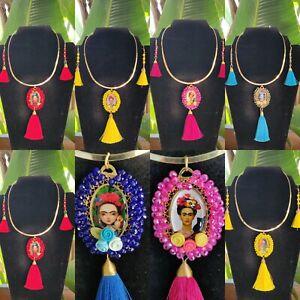 Collares De Frida kahlo de moda  Lote De 10 Sets /Joyeria Artesanal Méxicana.