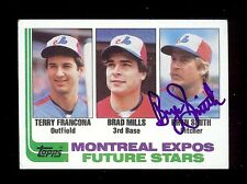BRYN SMITH 1982 Topps Montreal Expos SIGNED AUTOGRAPH Baseball Rookie Card #118