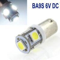 2xWhite 12V LED Luz Lateral BA9s 5 SMD para Coche Scooter Bombillas Lámpara
