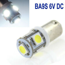 2x White 6v LED Side Light BA9s 5 SMD For Bright Auto Car Scooter Bulbs Lamp NEW