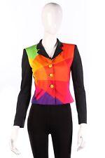 Moschino rainbow jacket size 6