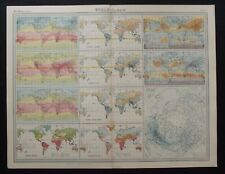 Vintage Map: The World - Climate by John Bartholomew, Times Atlas 1922