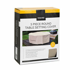 Excalibur Outdoor Living 5 Piece Round Table Furniture Cover