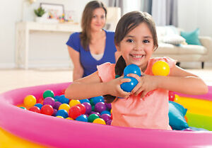 Intex 100 Pack Small Plastic Multi-Colored Fun Ballz For A Ball Pit (3 Pack)