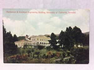 Vtg Postcard Mechanical & Electrical Engineering Bldg University Of California