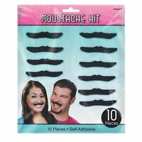 Fancy Dress Self Adhesive Stick on Moustaches Moustache Kit x10 Funny Mexican