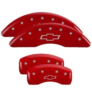 MGP 4 CALIPER COVERS Red for 2009-2017 Chevrolet Traverse 14214SBOWRD