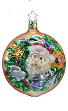 Inge Glas Owc 4159 Green Thumb Santa German Glass Christmas Ornament