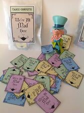"""30 Alice In Wonderland """"We're All Mad Here"""" Tea Party Table Decorations/Confetti"""