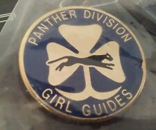 Panther Division Girl Guides lapel pin pre-owned