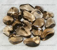15 x Smokey Quartz Tumblestones 14mm - 16mm A Grade Crystal Wholesale Bulk
