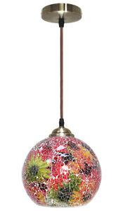 Vintage Glass Globe Ceiling Hanging Pendant Light Shade Mosaic Lighting M0104