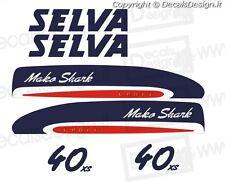 Adesivi motore marino fuoribordo mako shark 40 cv gommone barca stickers