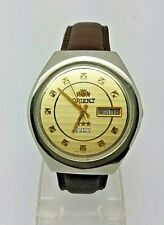 VINTAGE ORIENT Automatic Day/Date GENTS WATCH, Japan made, used (w-131)