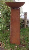 Garten Edelrost Feuerschale Pflanzschale 60cm,2mm mit Ständer Konus H80cm