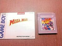 Nintendo Game Boy Cart Manual Only Tested Mega Man IV 4 CLEAN LABEL AUTHENTIC