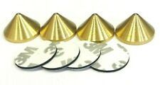 Speaker Spikes Cones BRASS with adhesive pads for HiFi Stands - Set of 4 pc