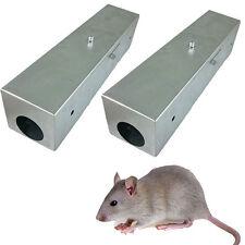 2 x Ratten Köderstation Köderbox Rattenbox Rattenfalle Metall verzinkt