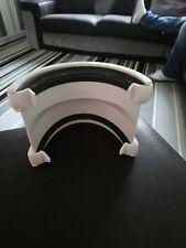 FLOPLAST RHR3WH HI-CAP2 HALF ROUND GUTTER ADAPTOR - WHITE