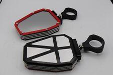 2 x ALUMINUM UTV Side Mirrors 1.75 Polaris Ranger RZR 800 900 1000 Can-Am RED