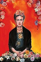 FRIDA KAHLO MEDITATION - ART POSTER 24x36