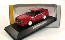 Audi Sport Quattro SWB TORNADO RED White Wheels 1:43 MINICHAMPS (Dealer Model)