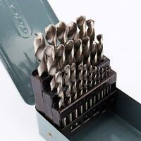 25PCS Drill Bit Set HSS Titanium Multi-Bits Twist Metal Tools 135 Split Point