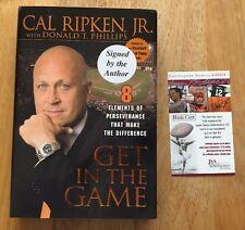 "Cal Ripken Jr Signed Book ""Get In The Game"" JSA COA"