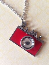 Petit Rouge Appareil Photo Collier Vendeur Britannique livraison gratuite