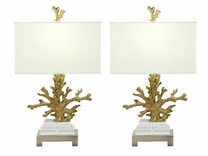 Urban Designs Gold Coral 26-inch Table Lamp (Set of 2)