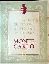 Le Ballet du Theatre National de l'Opera a Monte Carlo Program 1949 1950 Dancers