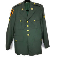 US Army Dress Uniform Mens Size 38R Jacket Coat Military Green Patches