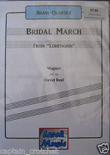BRIDAL MARCH from Lohengrin - Brass Quartet Sheet Music Score and Parts NEW