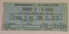 Ticket for collectors UEFA Brondby Copenhagen FC Aarau 1996 Denmark Switzerland
